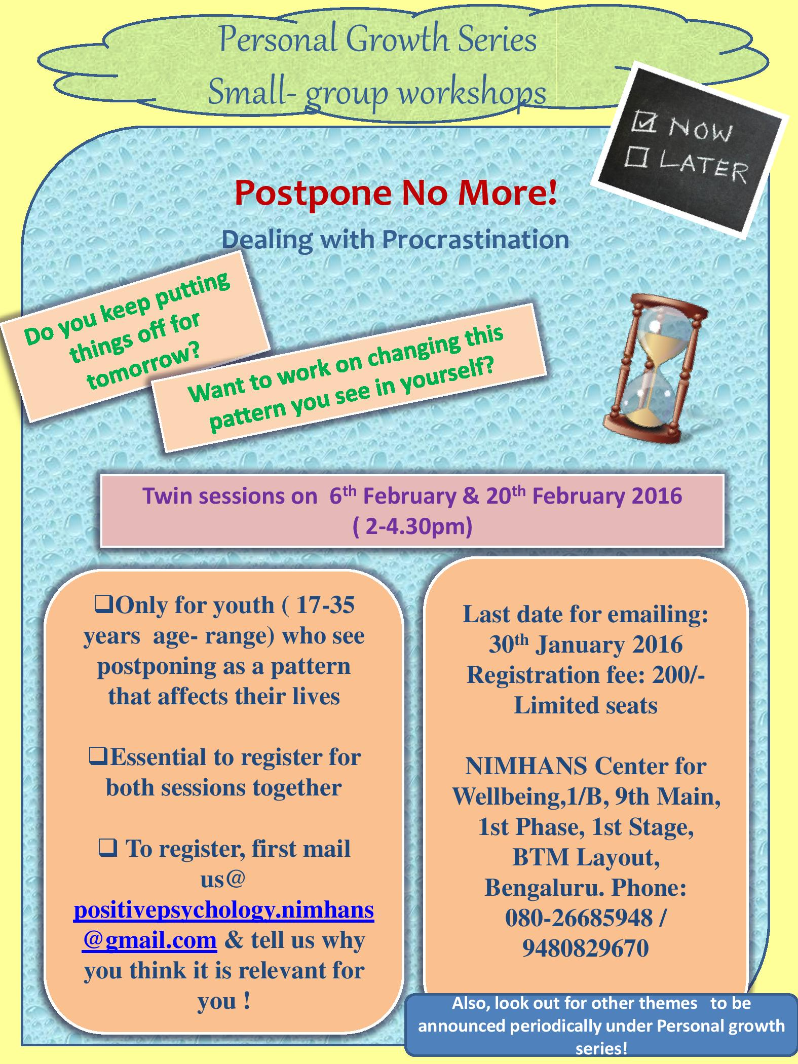 Personal Growth Series Poster - Postpone No more-page-001