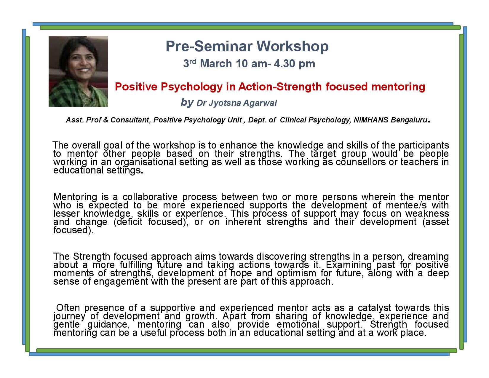 strength based mentoring workshop ms university baroda youth 6e brochure national seminar on positive psychology page 003
